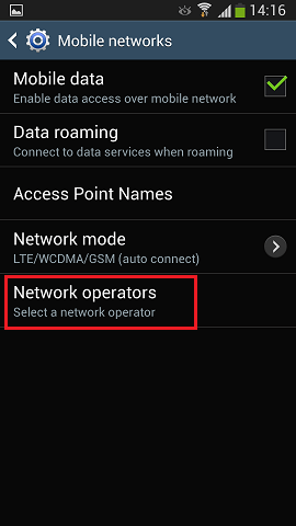 Mobile Network Android