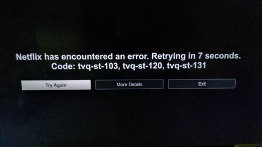 Can not connect to netflix tap to retry