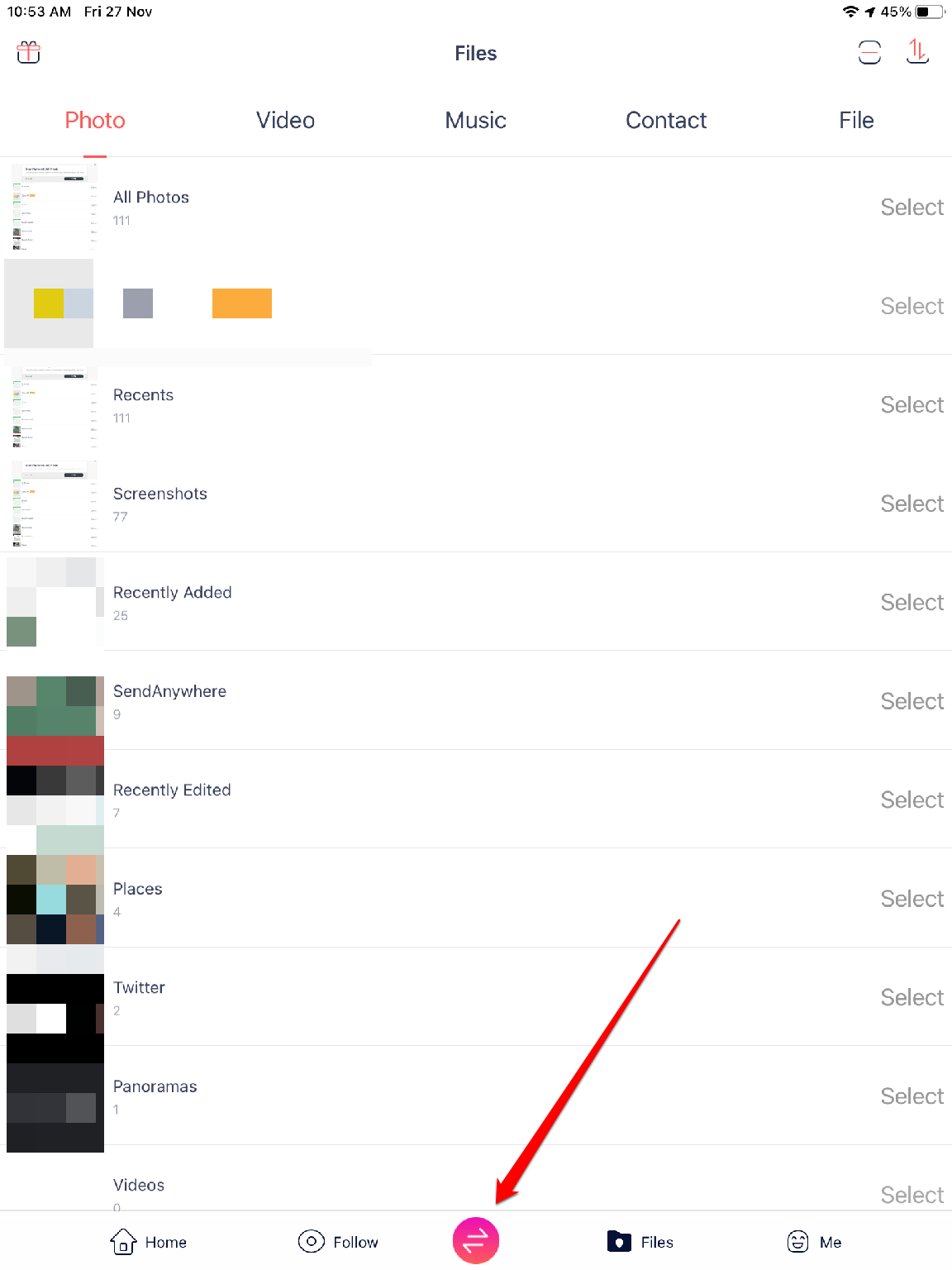 On iPad click on share icon