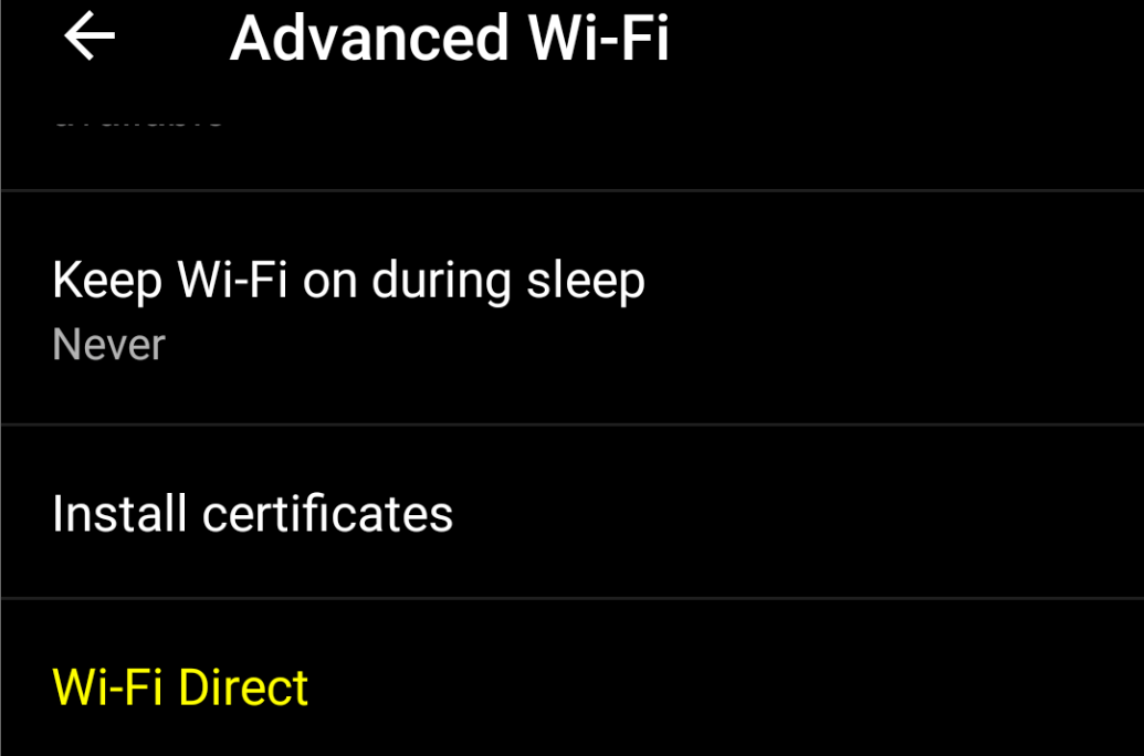 Open Wi-Fi Direct