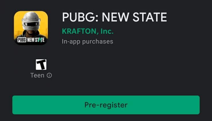 PUBG: New State Pre-Registration India