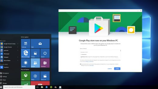Play Store on Windows PC
