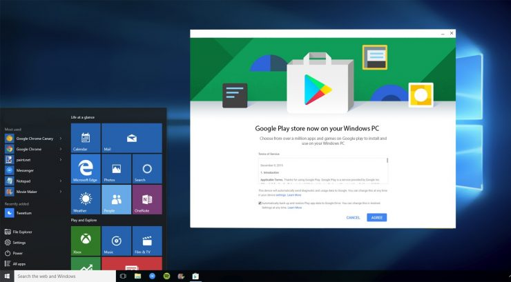 Play Store on Windows PC