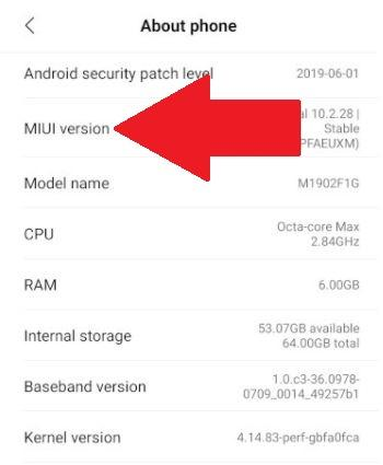 """Press the MIUI Version multiple times. A message will pop-up saying """"You are now a developer"""