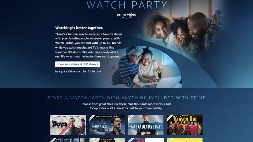 Prime Video Watch party in India watch movies with friends and chat online