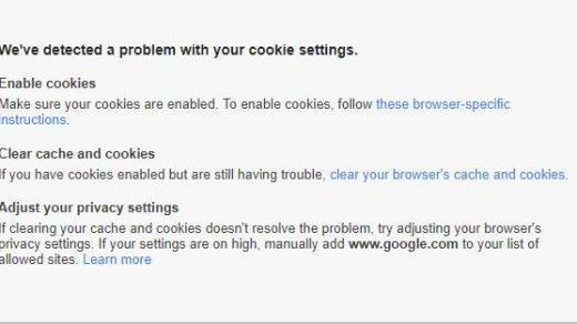 Problem With Cookie Settings Gmail