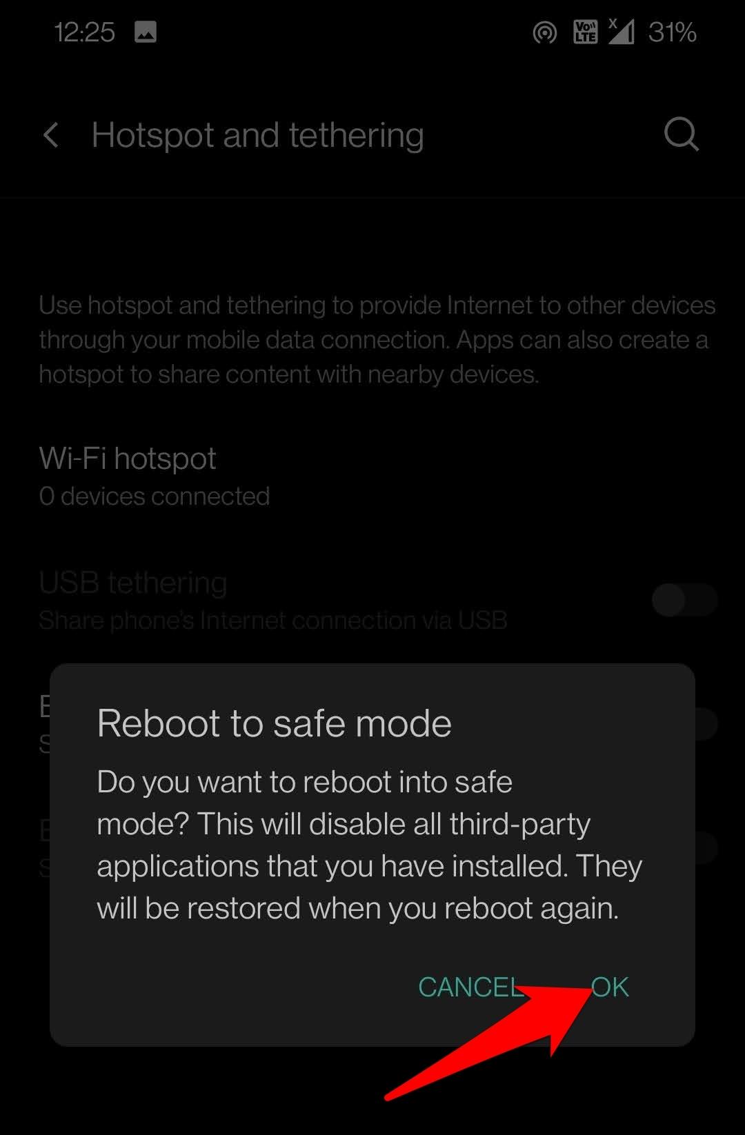 Reboot Safe Mode