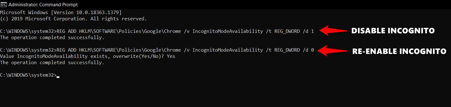 Remove Incognito from Chrome Windows