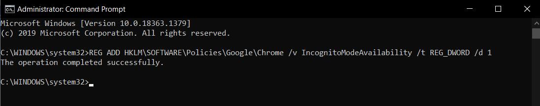 Remove Incognito Windows