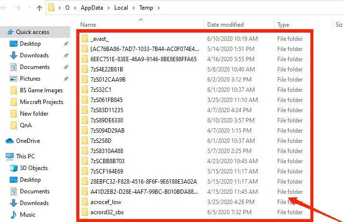 Remove all temporary files