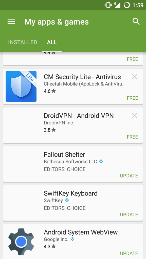 Remove apps from Google Play Store