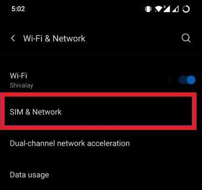 SIM and Network