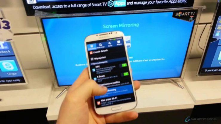 Screen Mirror Samsung Smartphone on Samsung Smart TV 1
