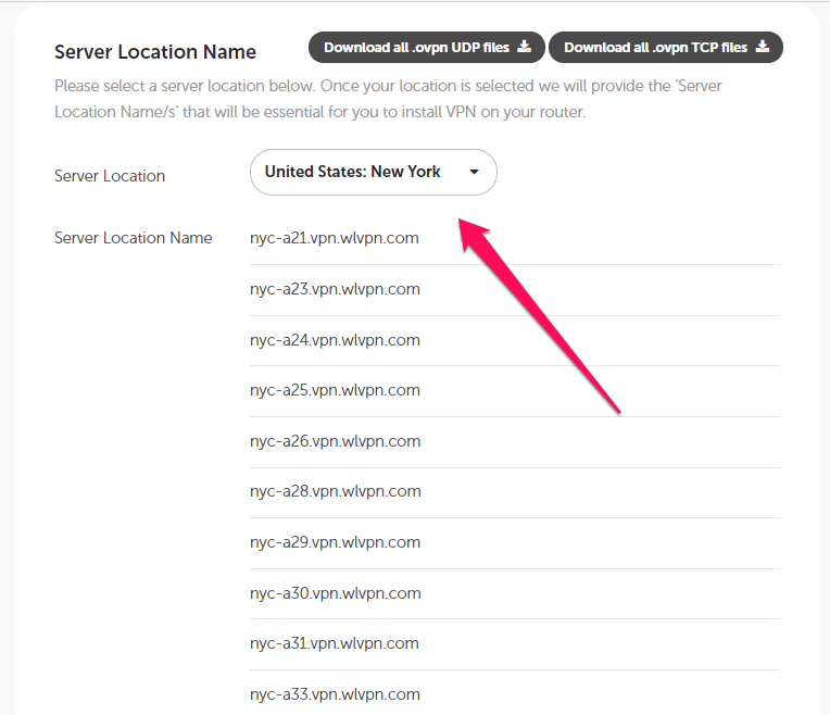 Select VPN Network