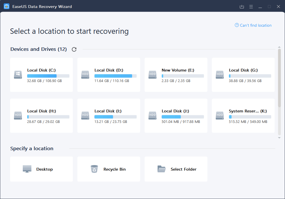 Select Your Storage