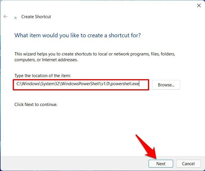 Shortcut file to Open PowerShell as an Admin