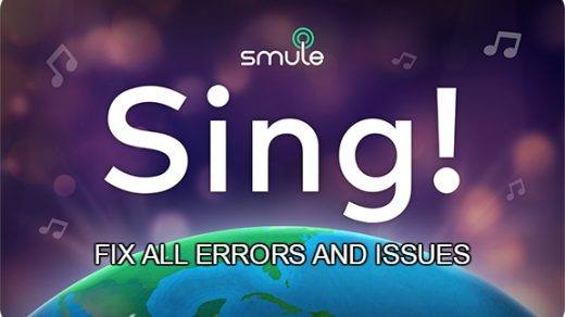 Smule Sing Fix All Errors and Problems Android