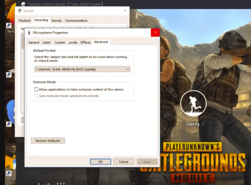 Sound Settings PUBG PC