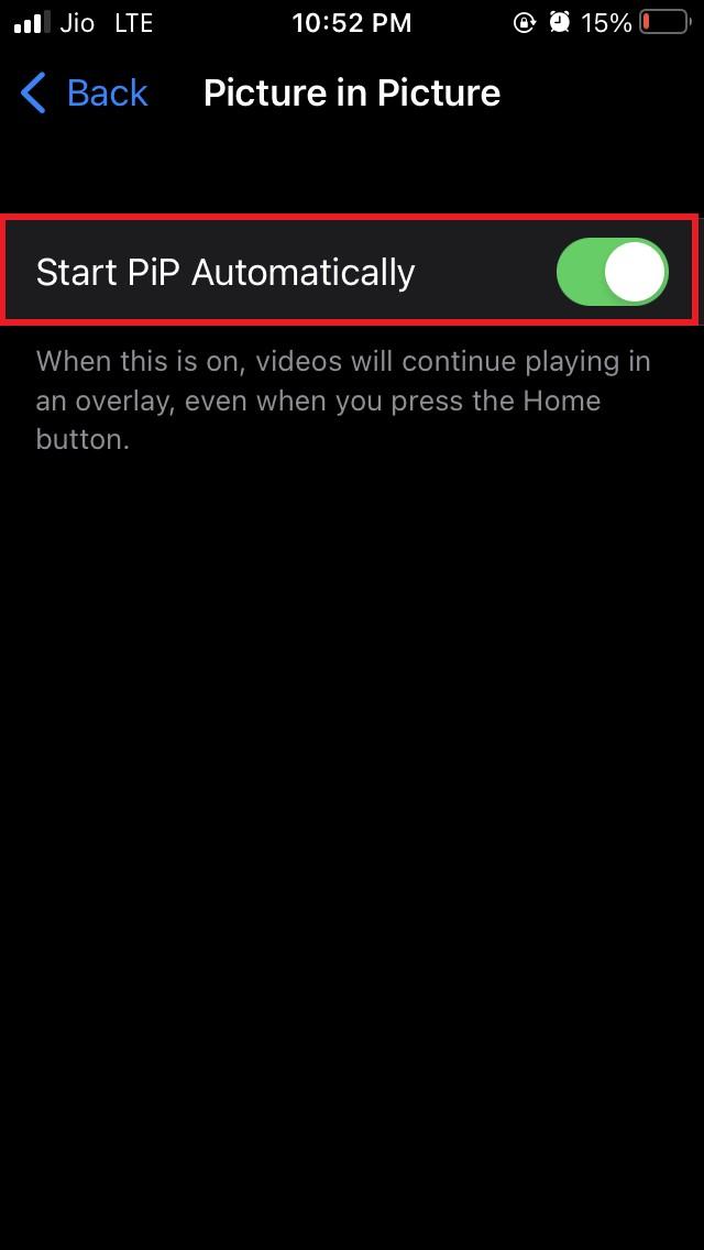 Start PiP automatically