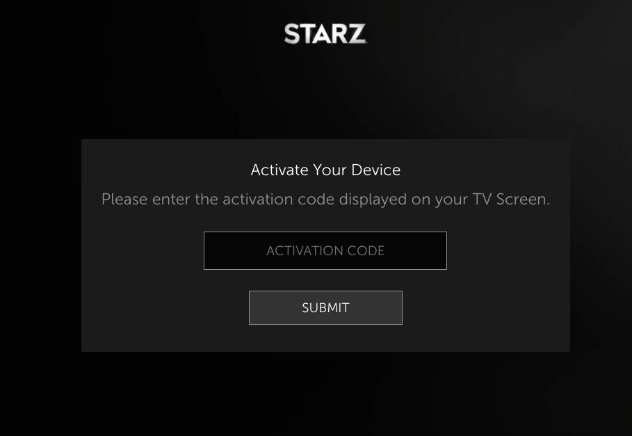 Starz Activate