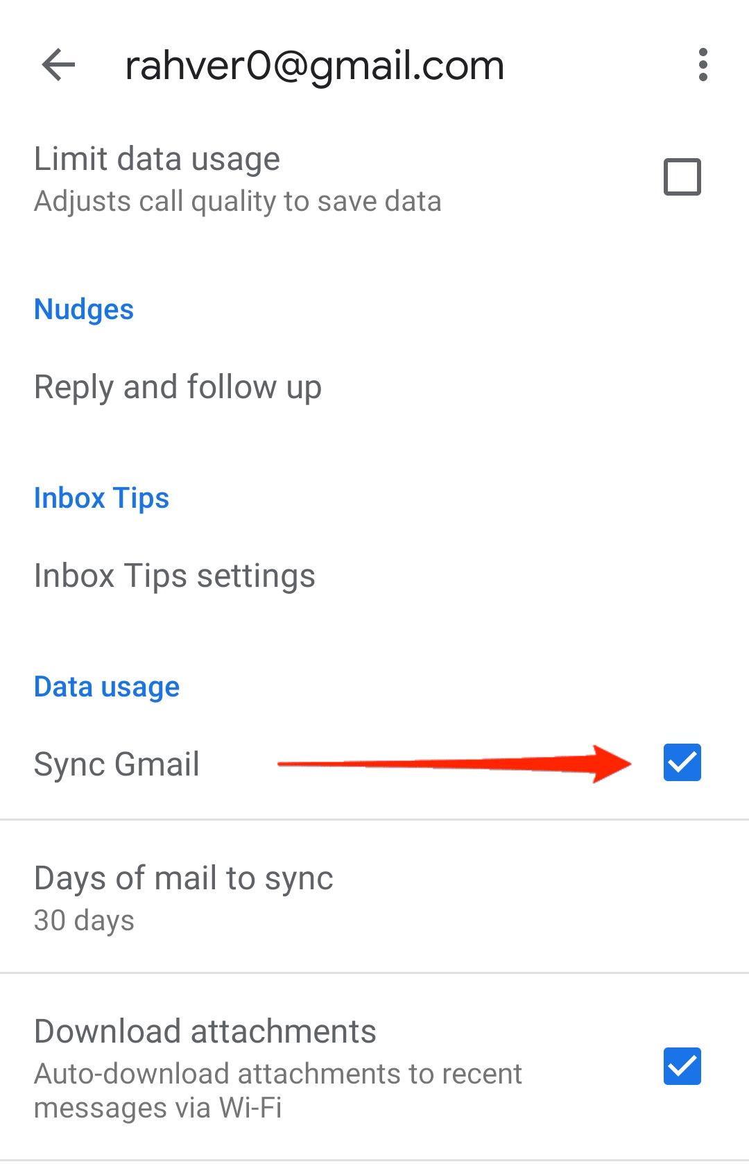 Sync Gmail