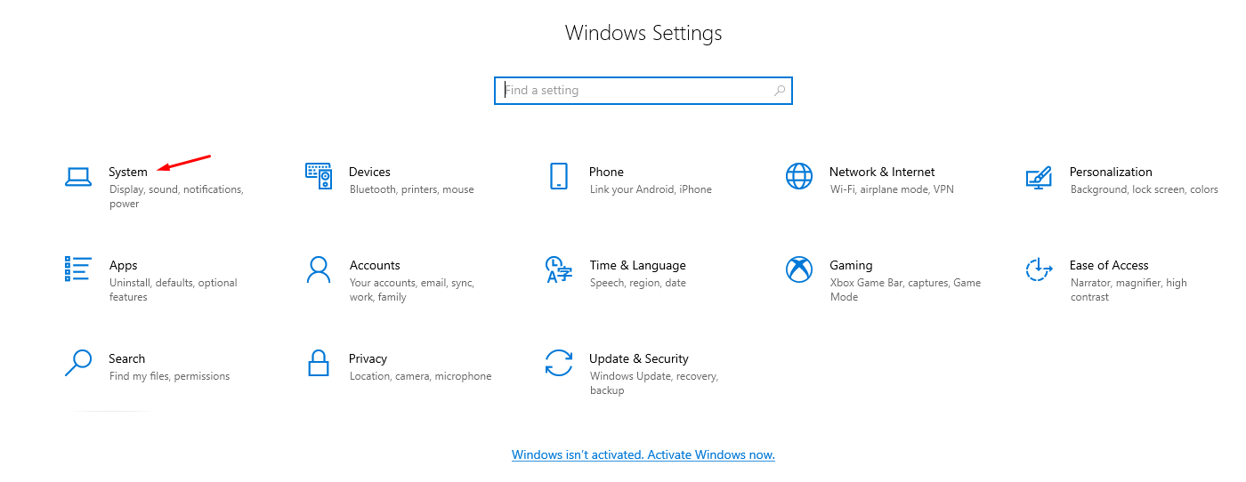 System Settings PC