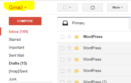 Tap on Gmail Text to see contacts option.