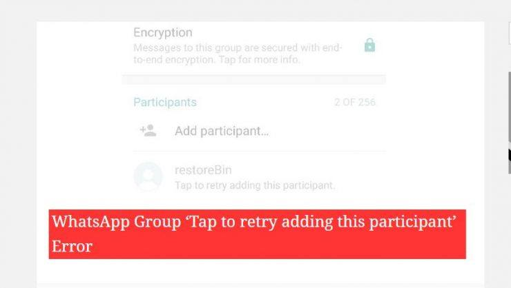 Tap to Retry Adding this Participant