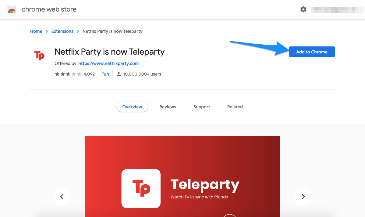 Teleparty Chrome Extension