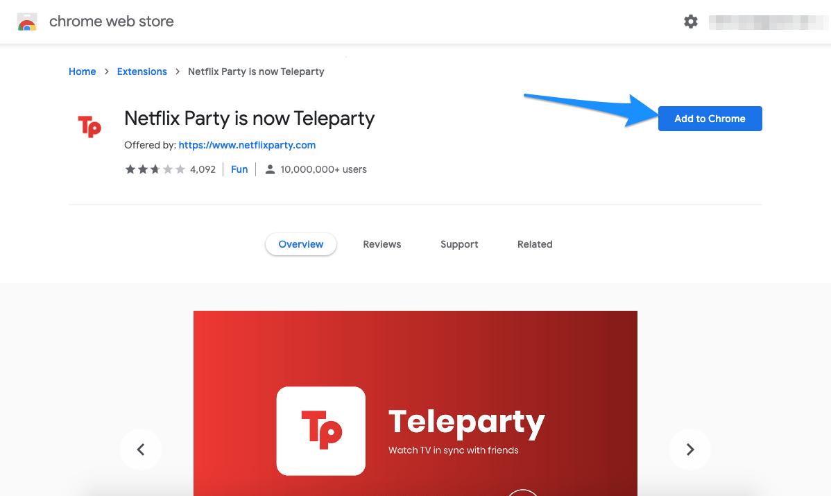 Teleparty Chrome Extension