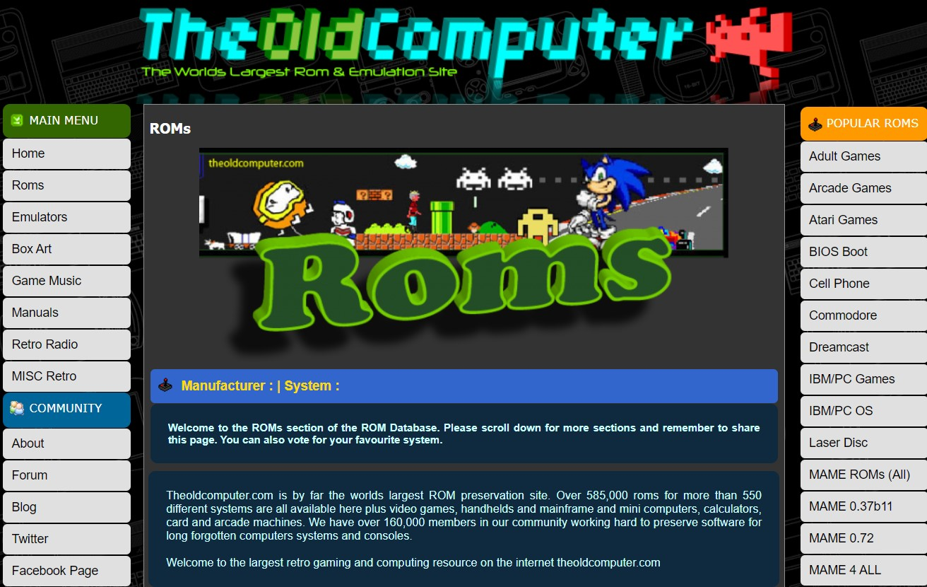 The Old Computer ROMs