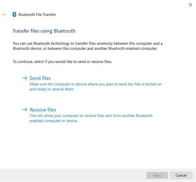 Transfer Files Using Bluetooth