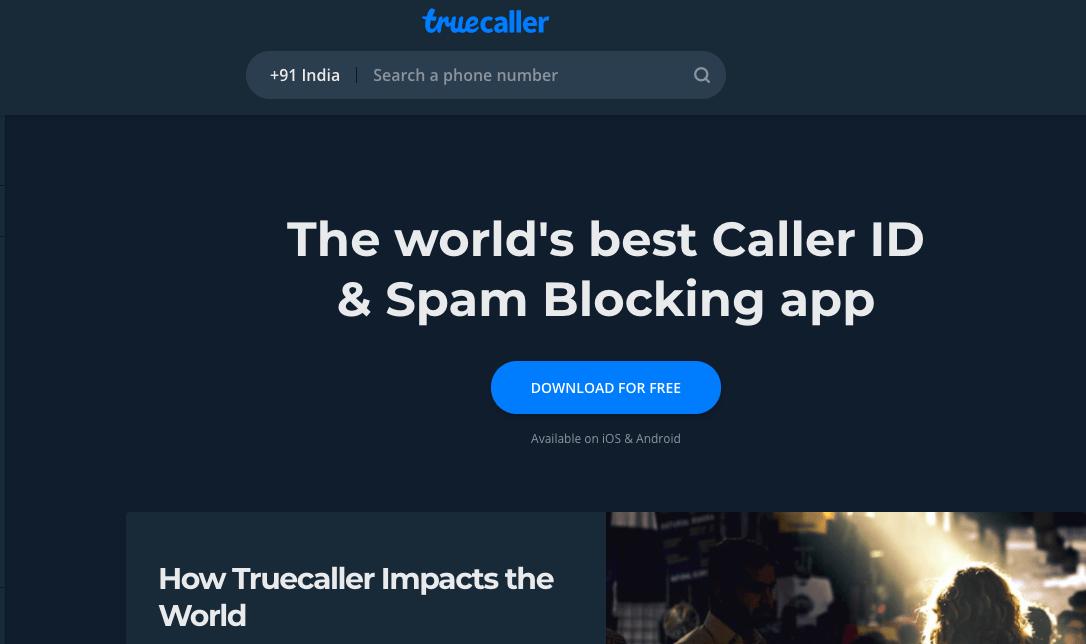 Truecaller Reverse Lookup