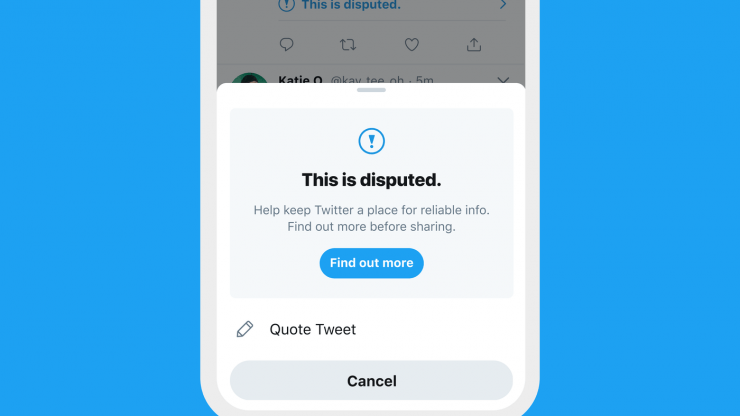 Twitter's fight against the spread of misinformation