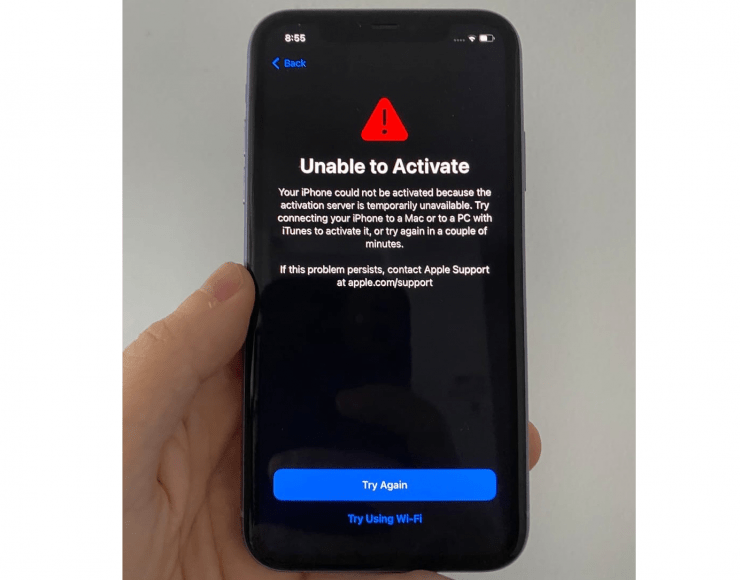 Unable to Activate iPhone fix