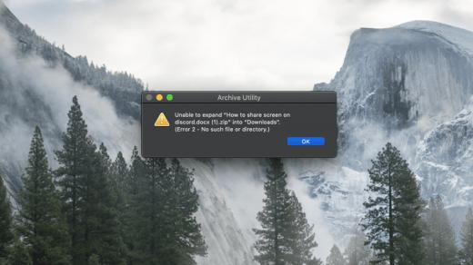 Unable to Expand Zip Mac Error Fix