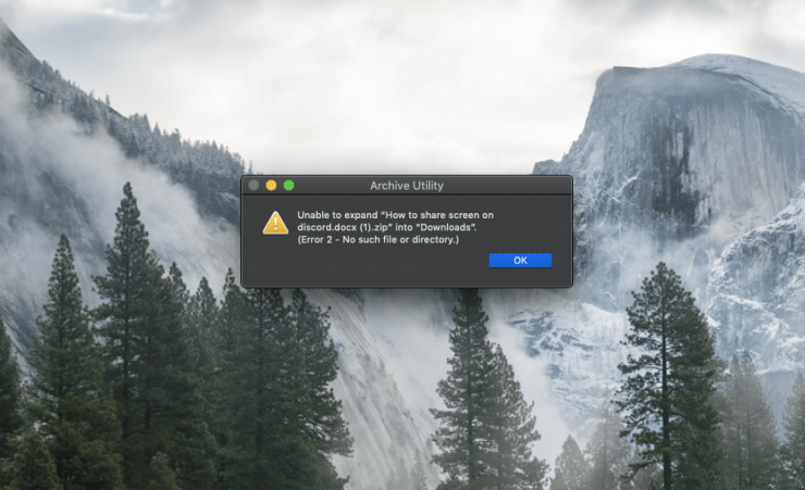 Unable to Expand Zip Mac Error Fix