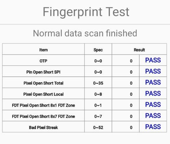 Under the Fingerprint test, Select Normal scan