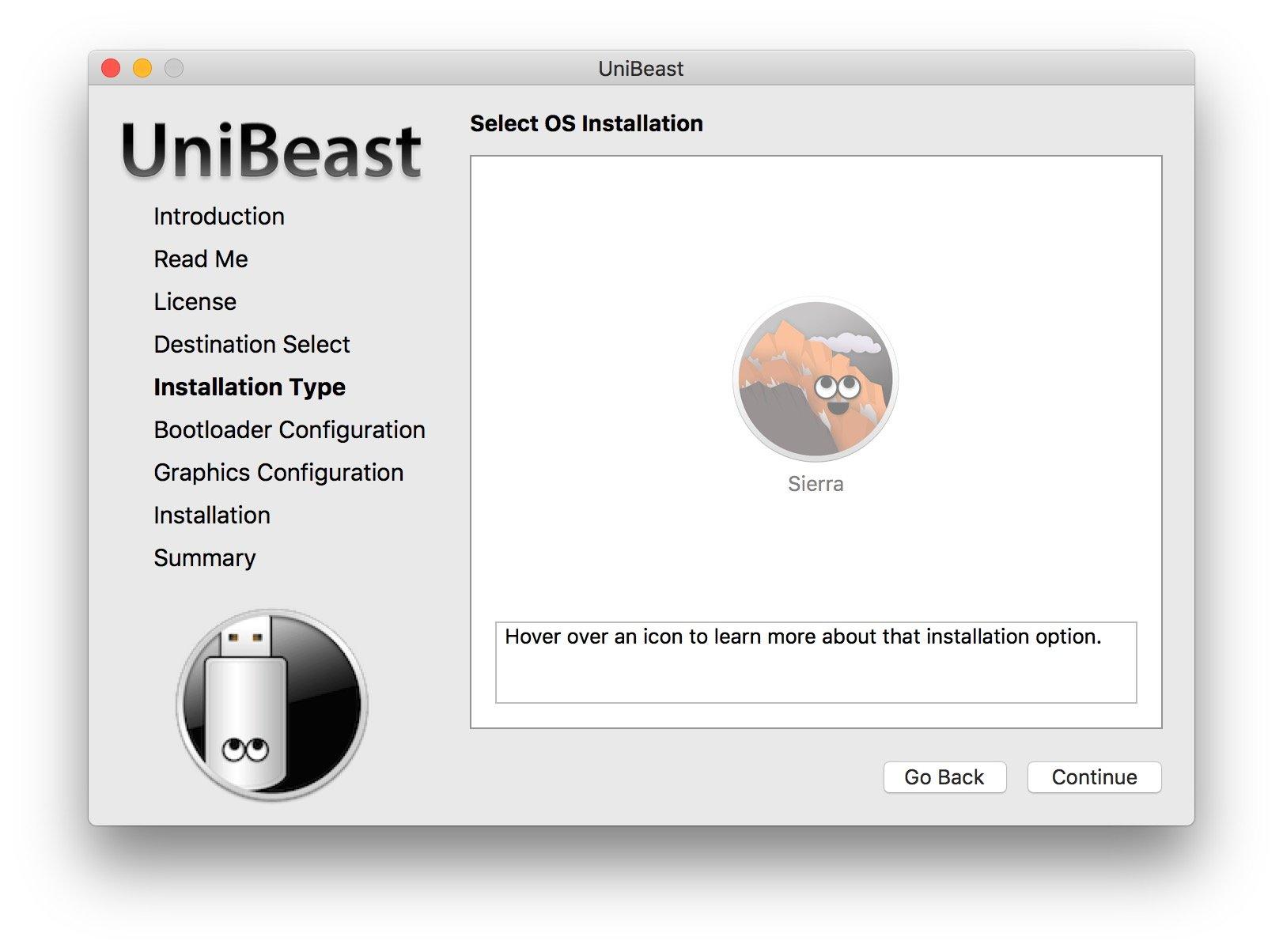 UniBeast Select OS