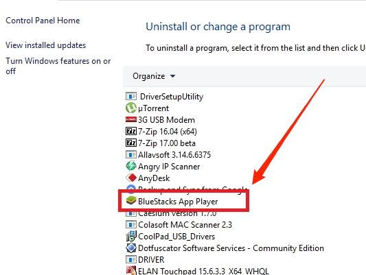 Uninstall App Player