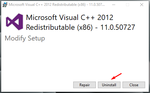 Uninstall the packages, and then restart the Windows PC