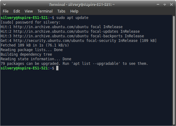 Update Linux OS from Terminal - 4