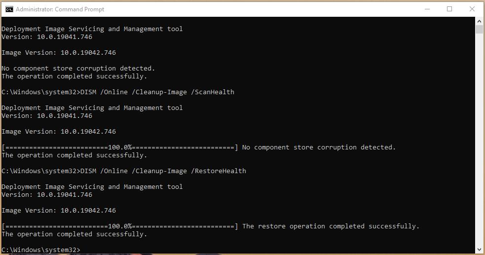 Use DISM to repair Windows 10 Image - 7