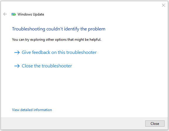 Use Windows Update Troubleshooter - 6