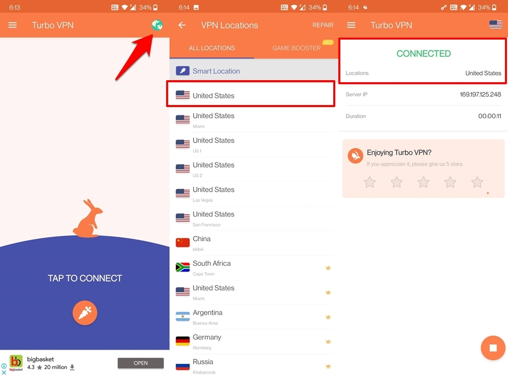VPN with US Proxy