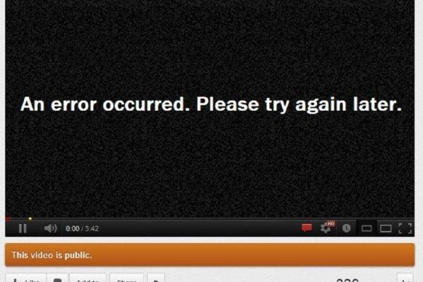Video Playing error