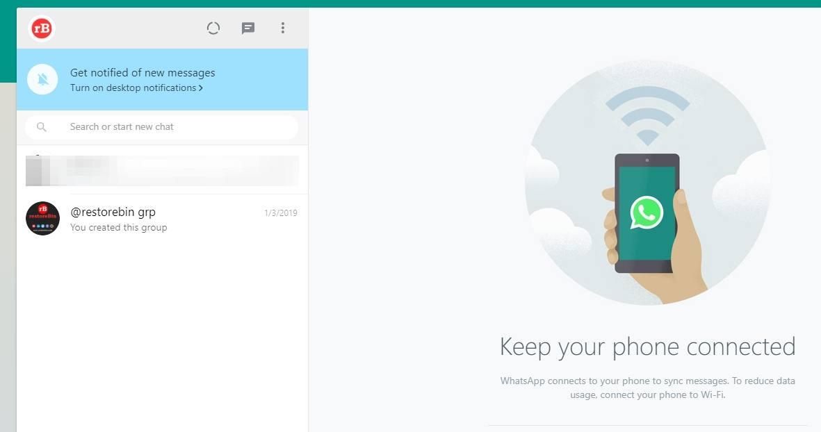 WhatsApp Web Chat Screen