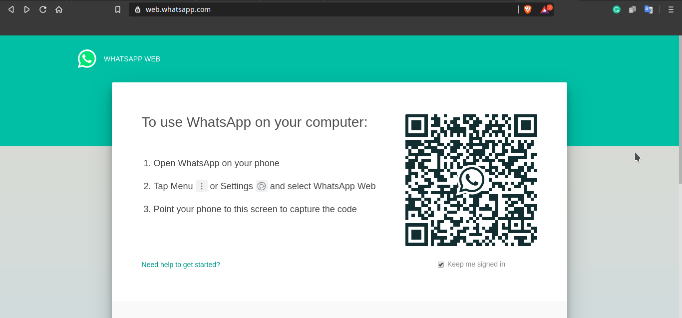 WhatsApp Web QR for PC