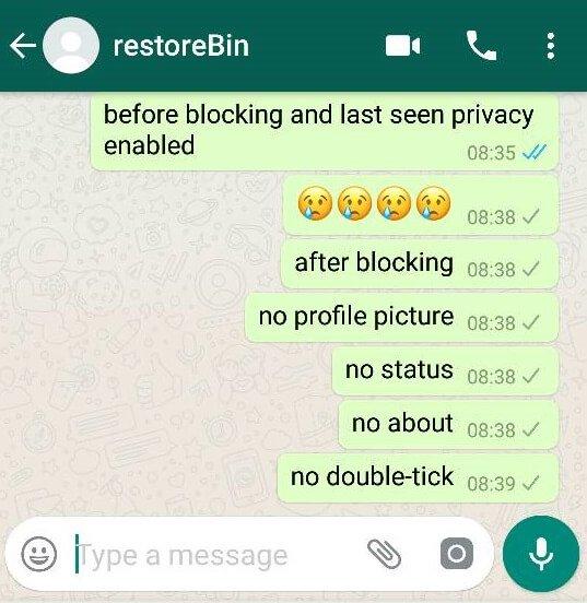 I'm WhatsApp Blocked User