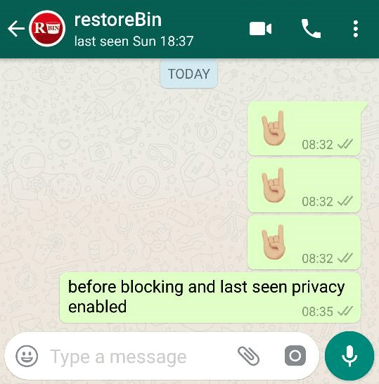 WhatsApp Contact not Blocked and Privacy is enable
